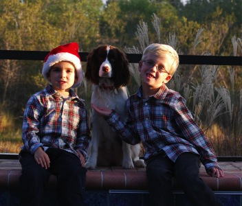 Maggie Heisey and her two boys